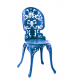 Chaise industrielle Seletti bleue