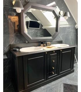Meuble de salle de bain néoclassique double vasque Gatsby