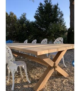 table de jardin en bois de teck